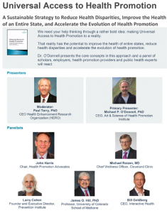Universal Access to Health Promotion Webinar
